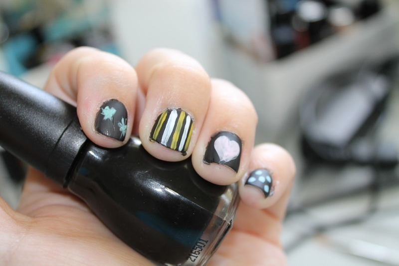 Chalkboard Mani nail art by Kristy  Bond