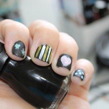 Chalkboard Mani nail art by Kristy  Bond