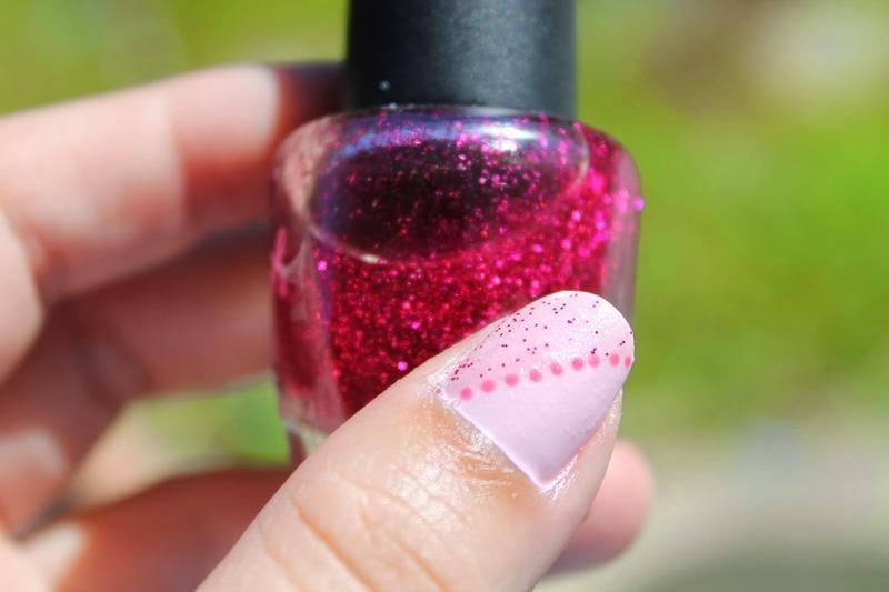 Pink Mani nail art by Kristy  Bond