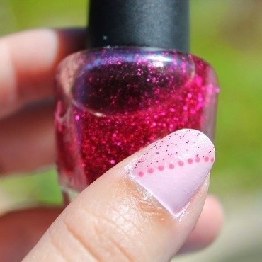 Pink Mani nail art by Kristy  Bond