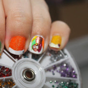 Turkey Day Mani nail art by Kristy  Bond