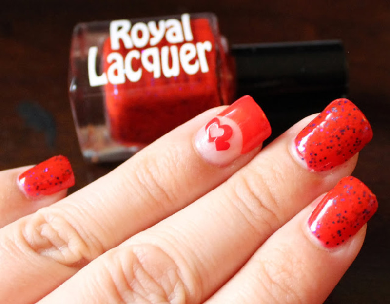 Wreck it Red! nail art by Kristy  Bond