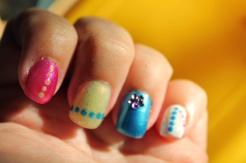 Dots from Tokyo nail art by Kristy  Bond