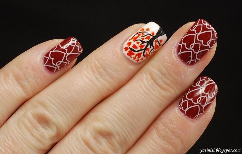 Valentines 2014 nail art by Yasinisi