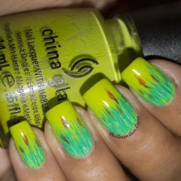 Green Green Grass nail art by Naomi Hing