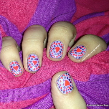 Purple Heart Dotticure nail art by Nicole