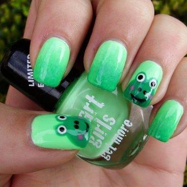 Frog nails nail art by Sanela