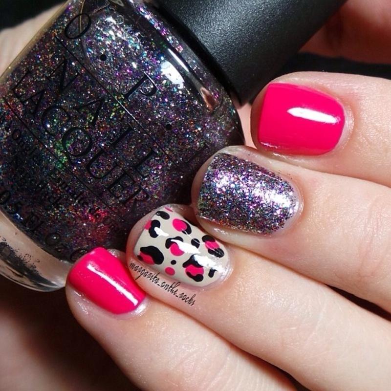 Charged up Cherry nail art by Gari
