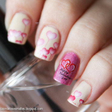 Valentine nail art decal 6 thumb370f