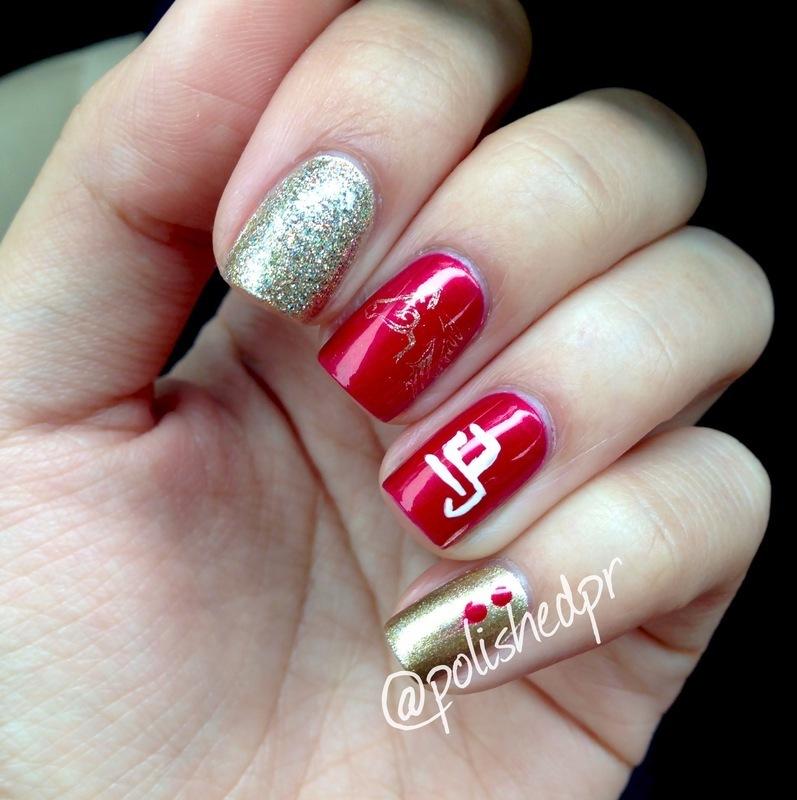 Year of the Horse nail art by Jenn Thai