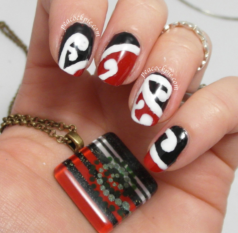 Waitangi Day nail art by Serra Clark