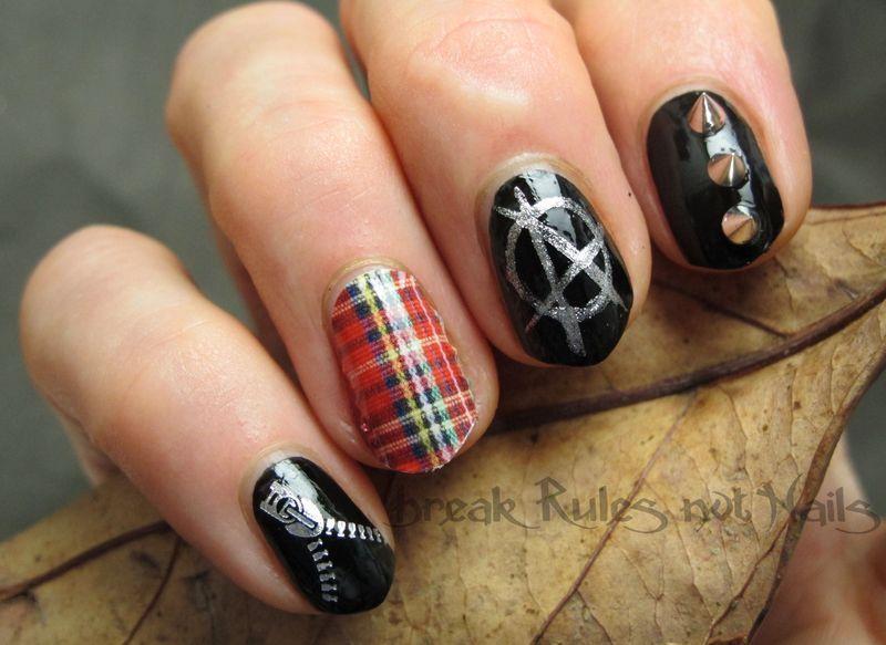 Punk-a-licious nail art by Michelle
