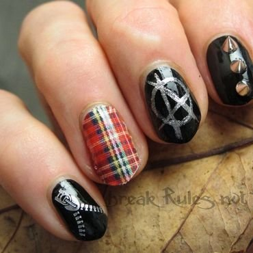 Punk-a-licious nail art by Michelle