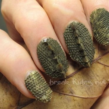 Lizard skin nail art by Michelle