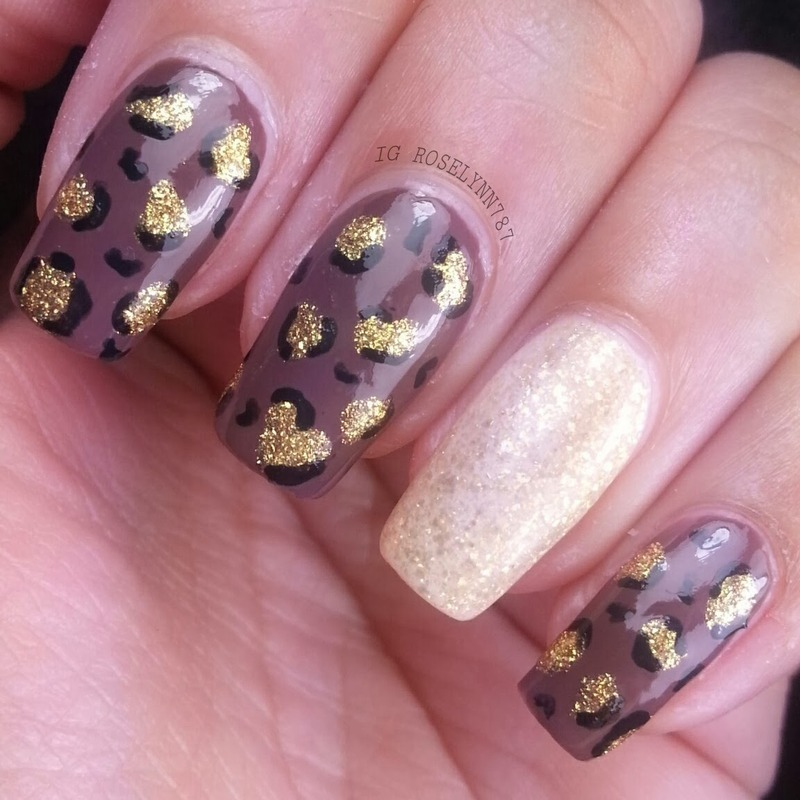 chic cheetah print nail art by Rose Mercedes