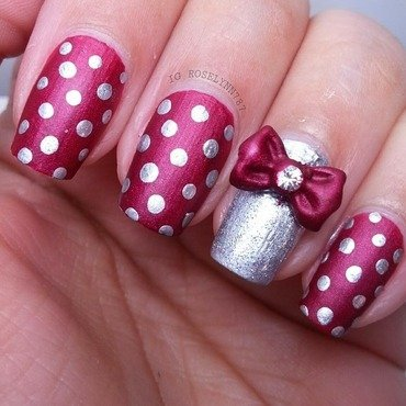 Put a Bow on It nail art by Rose Mercedes