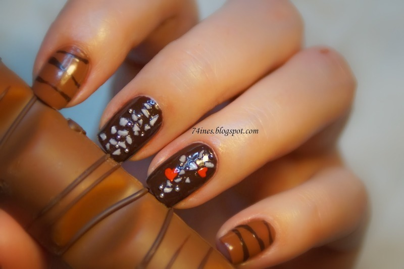 Love has taste of chocolate nail art by 74ines