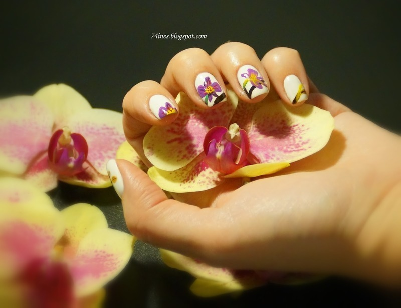 orchidee nail art by 74ines