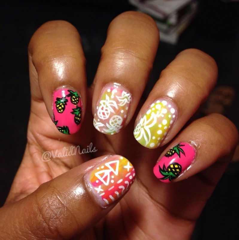 Pineapples ! nail art by Chantay