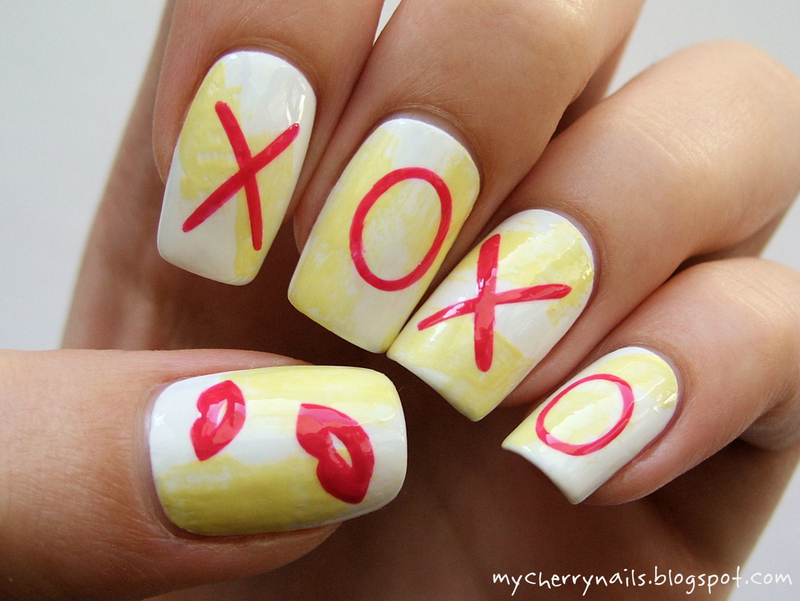 xoxo nail art by Pauline