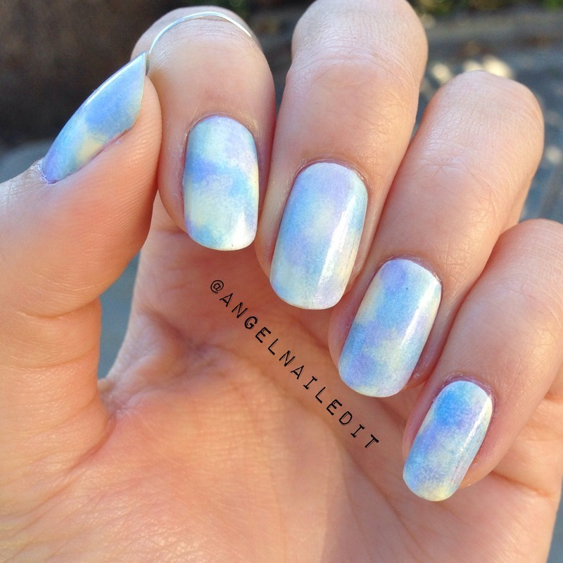 Cloudy Pastel nail art by Angel Son