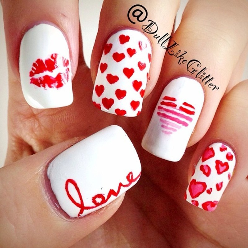 Mix and Match V-Day Nails nail art by Casey