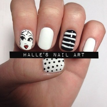 Face the Facts nail art by Halle Butler