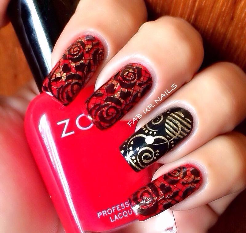 Valentines mani nail art by Johanne