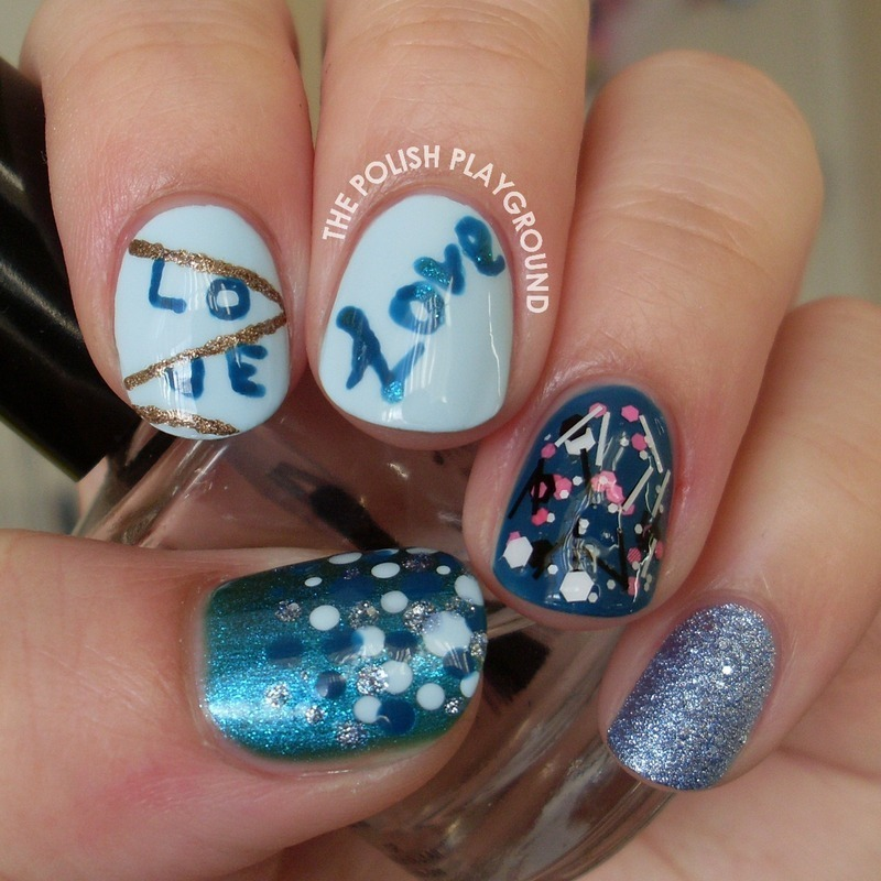 Love in the Air nail art by Lisa N