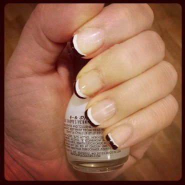 French Twist nail art by Marisa