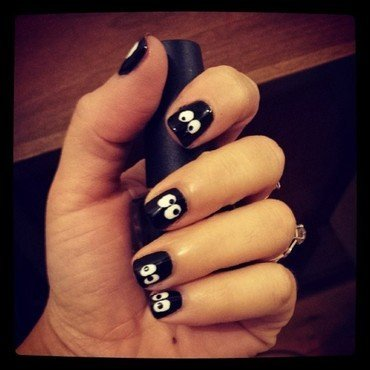 Boo! nail art by Marisa