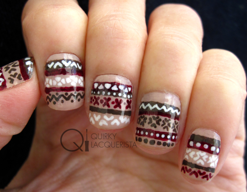 Sweater Nails nail art by Kimmi