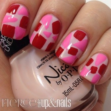 Abstract Valentine's Day Mani nail art by Nory