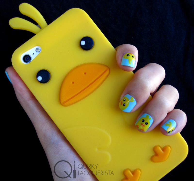 Chicky Nails nail art by Kimmi