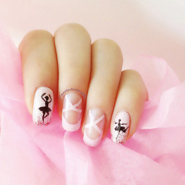 Ballet Inspired Nails nail art by Shirley X.