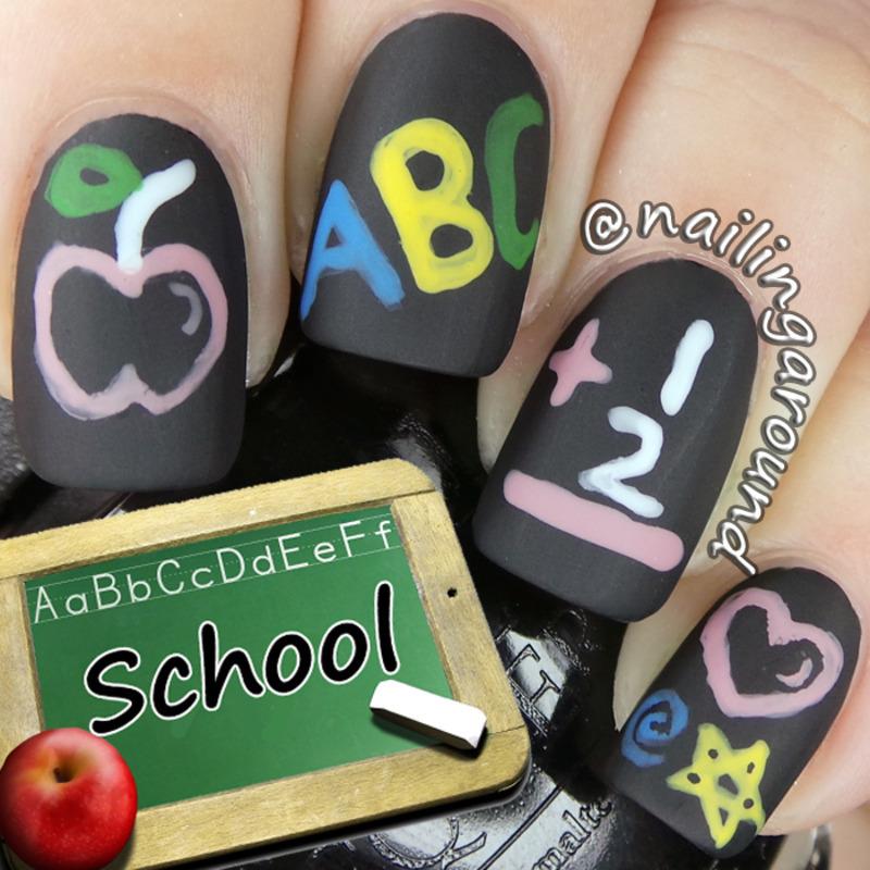 School nail art by Belinda
