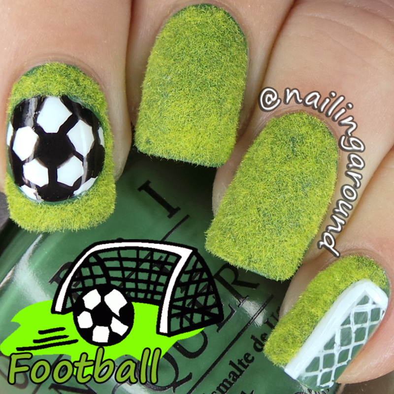 Football / Soccer nail art by Belinda