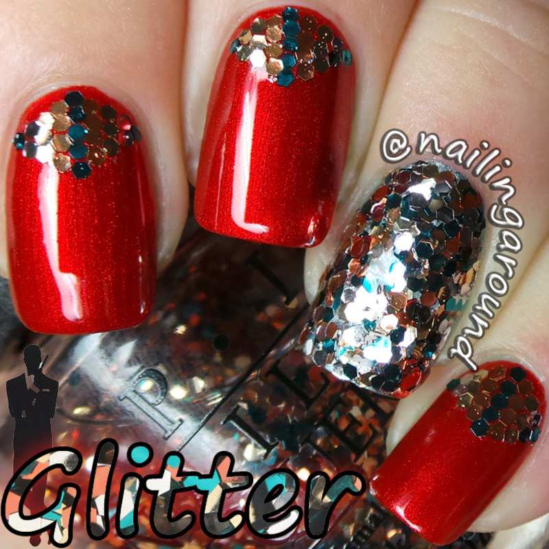 Glitter nail art by Belinda