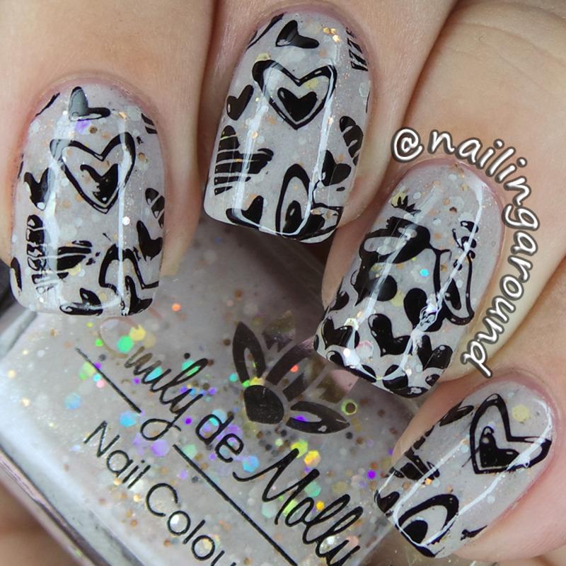 EDM Stamping nail art by Belinda