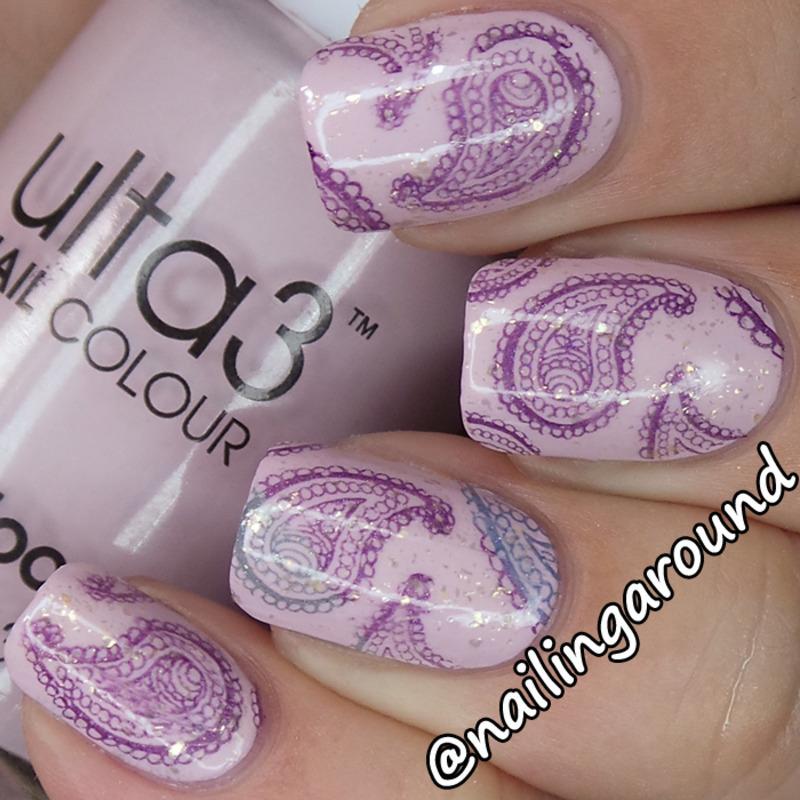 Paisley Nail Art: Paisley Stamping Nail Art By Belinda
