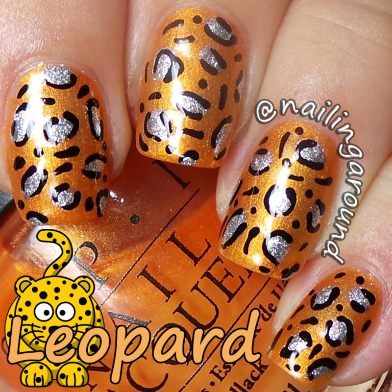 WAH Book 1 - Leopard nail art by Belinda