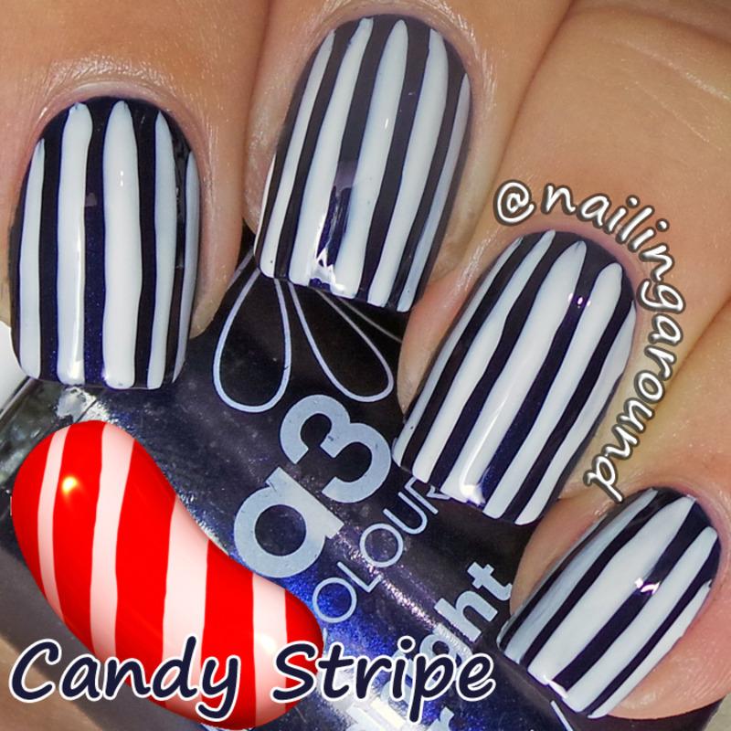 WAH Book 1 - Candystripe nail art by Belinda