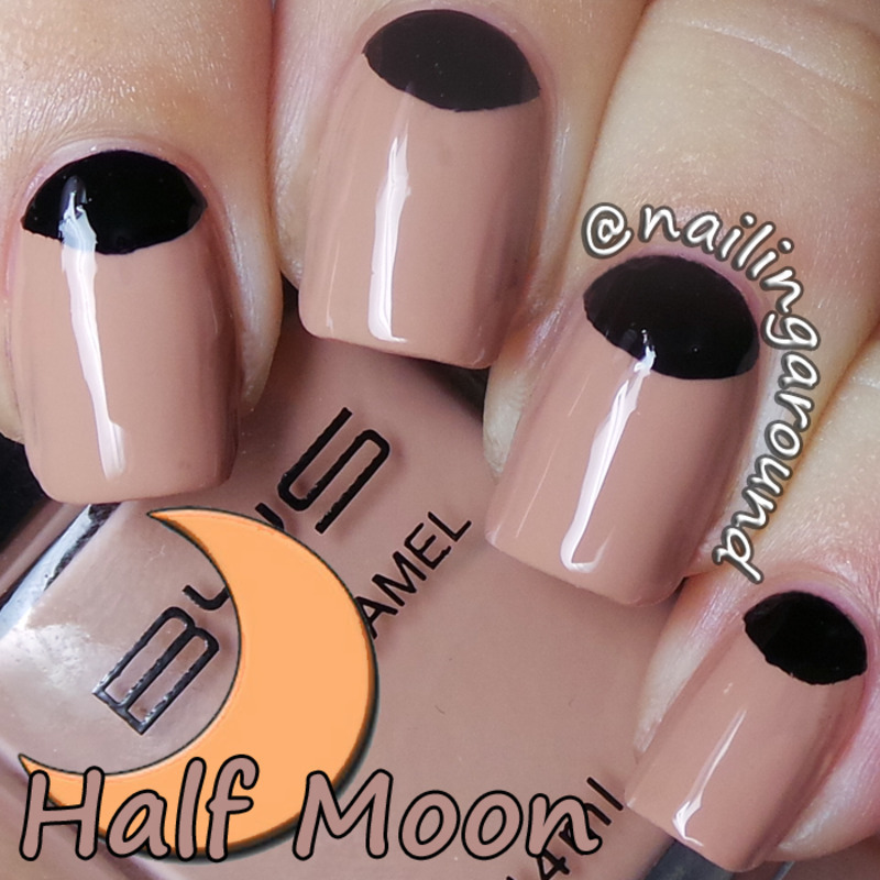 WAH Book 1 - Half-Moon nail art by Belinda