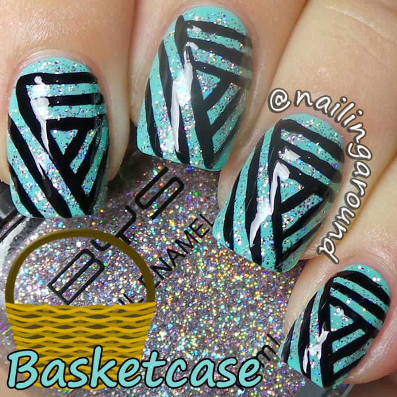 WAH Book 1 - Basketcase nail art by Belinda