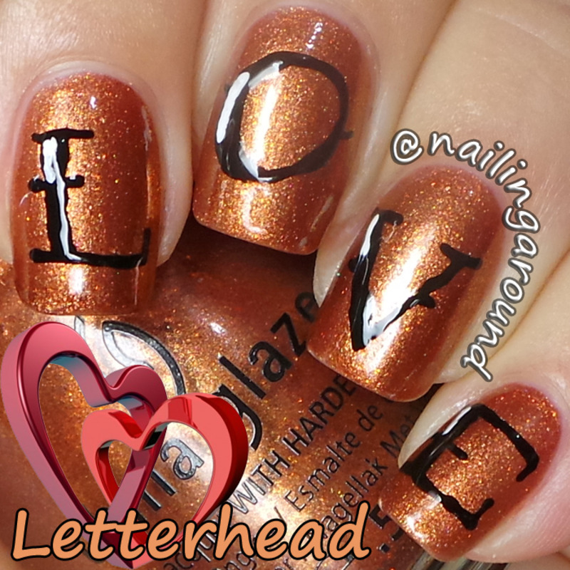 WAH Book 1 - Letterhead nail art by Belinda