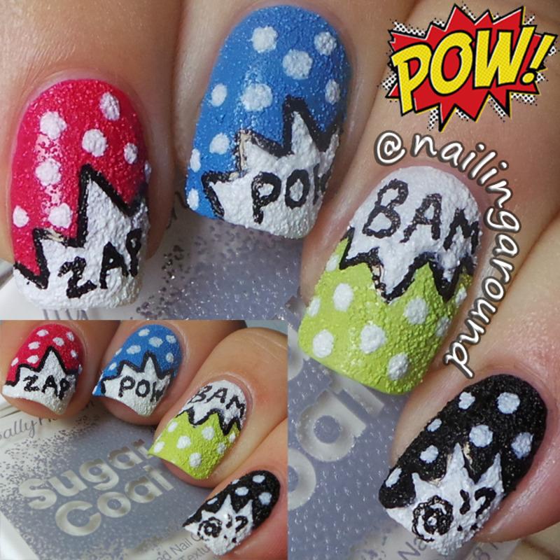 WAH Book 1 - Pow / Comic Book nail art by Belinda