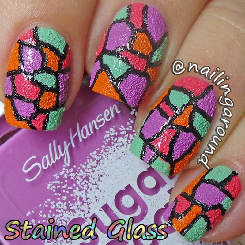 WAH Book 1 - Stained Glass nail art by Belinda