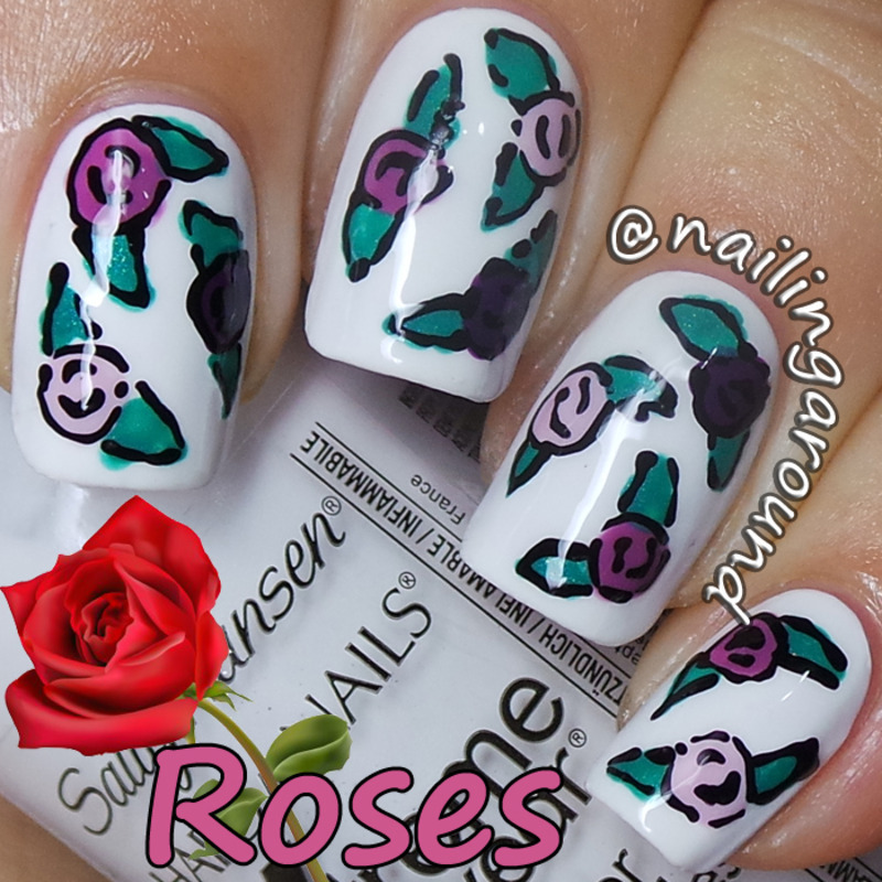 WAH Book 1 - Roses nail art by Belinda
