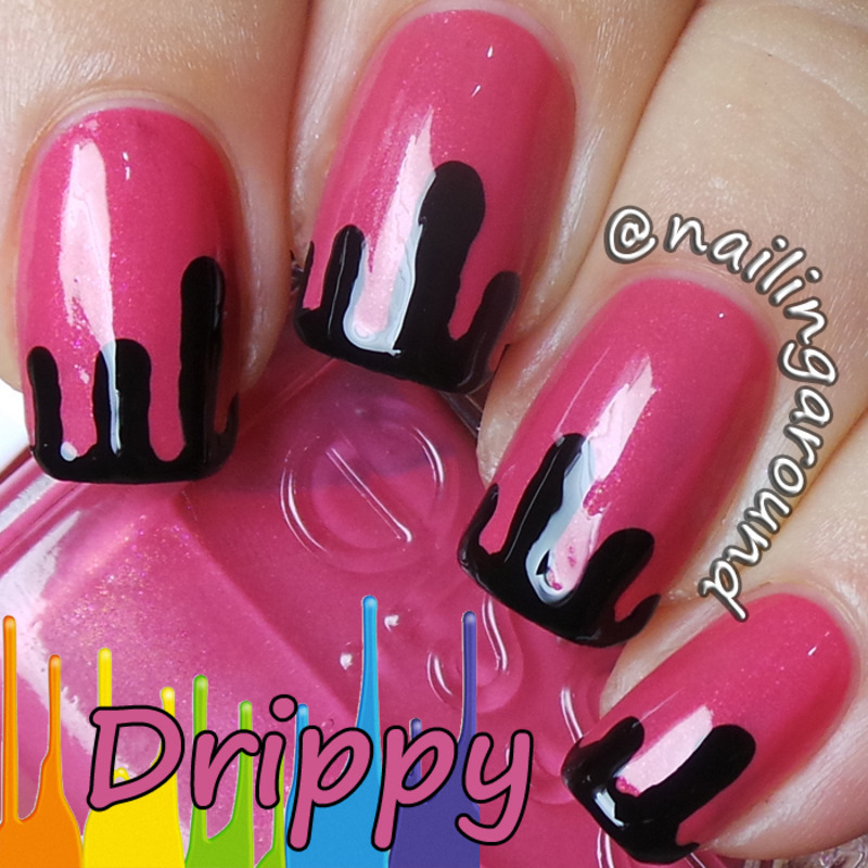 WAH Book 1 - Drippy nail art by Belinda