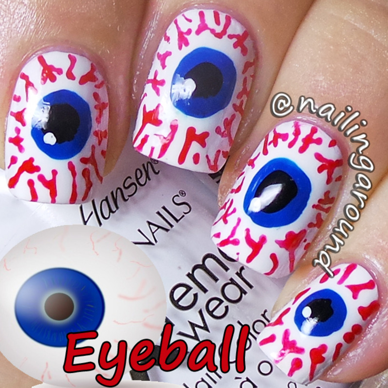 WAH Book 1 - Eyeball nail art by Belinda